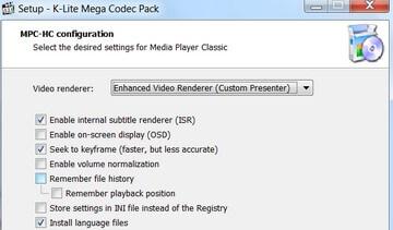 Скачать кодек пакет K Lite Codec Pack