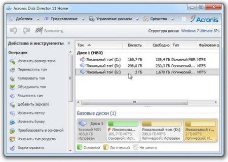 Скачать Acronis Disk Director 11 Home для Windows 7, 8, 10