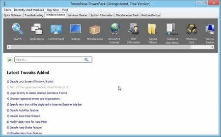 TweakNow PowerPack Windows Secret