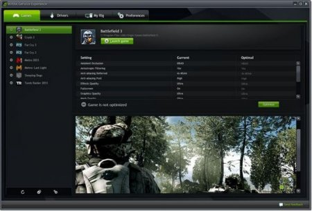 NVIDIA GeForce Experience скачать для Windows 7, 8, 10